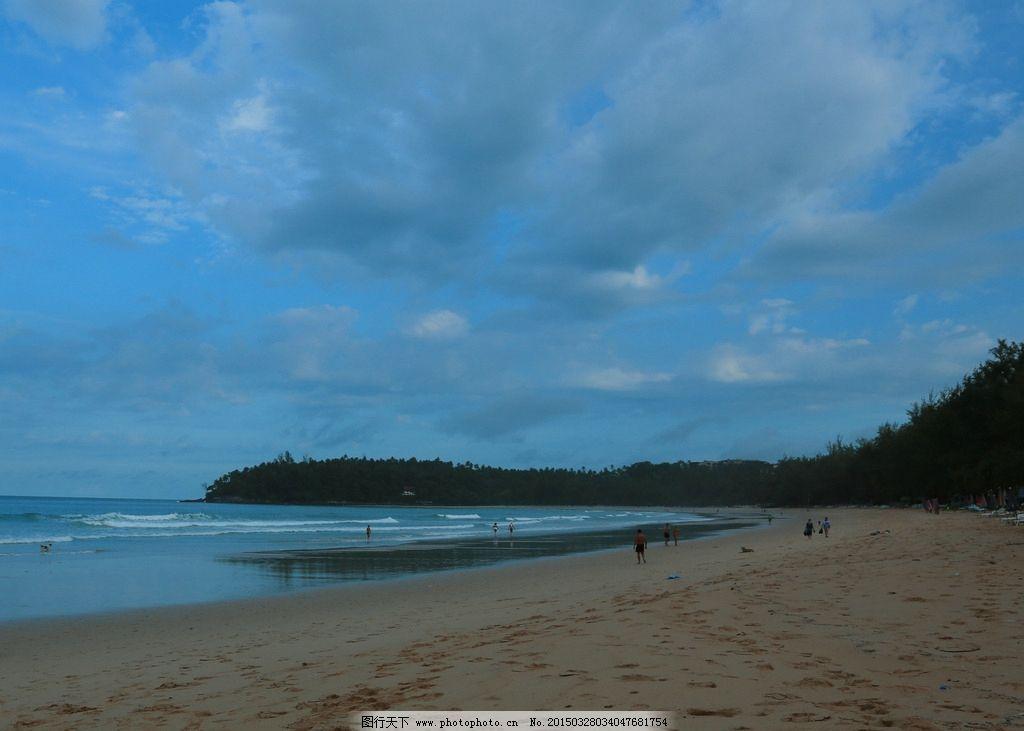 唯美 风景 风光 旅行 自然 泰国 普吉岛 度假 蓝天 大海 海 沙滩 摄影