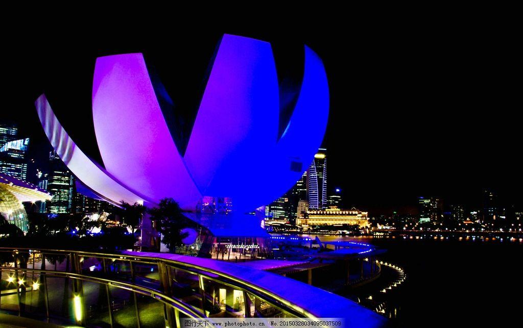 新加坡夜景灯光
