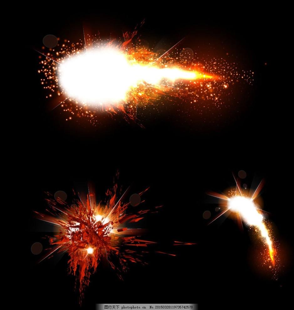 装饰图案  爆炸炫光素材 炫光 梦幻光芒 光效 爆炸 烟花 火球 飞溅