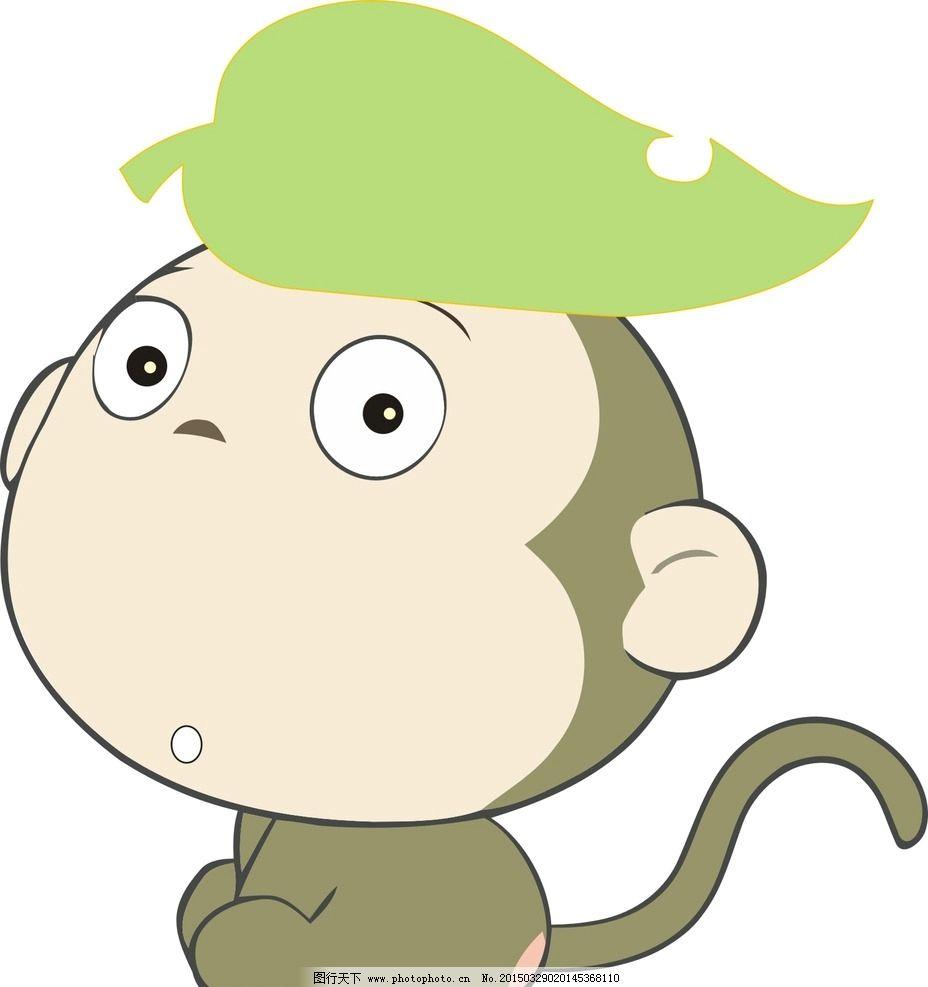 可爱小猴墙报简笔画