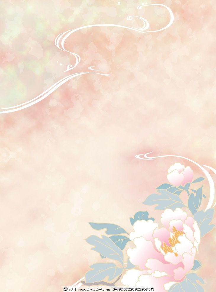 淡雅花朵背景图片
