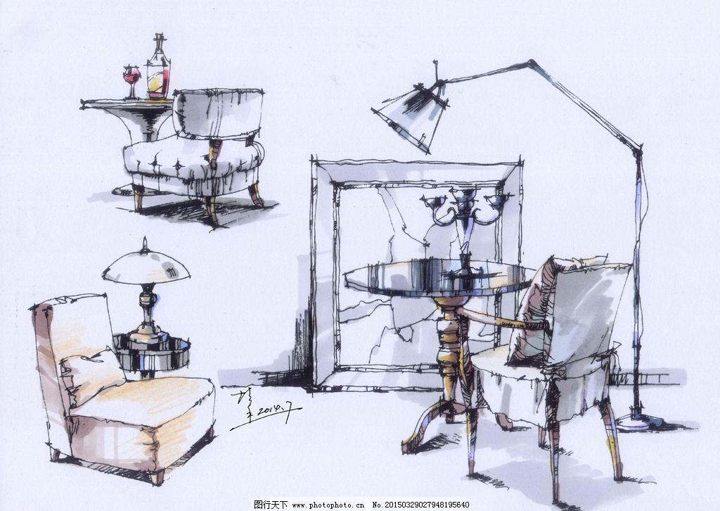 环境设计钢笔手绘图片