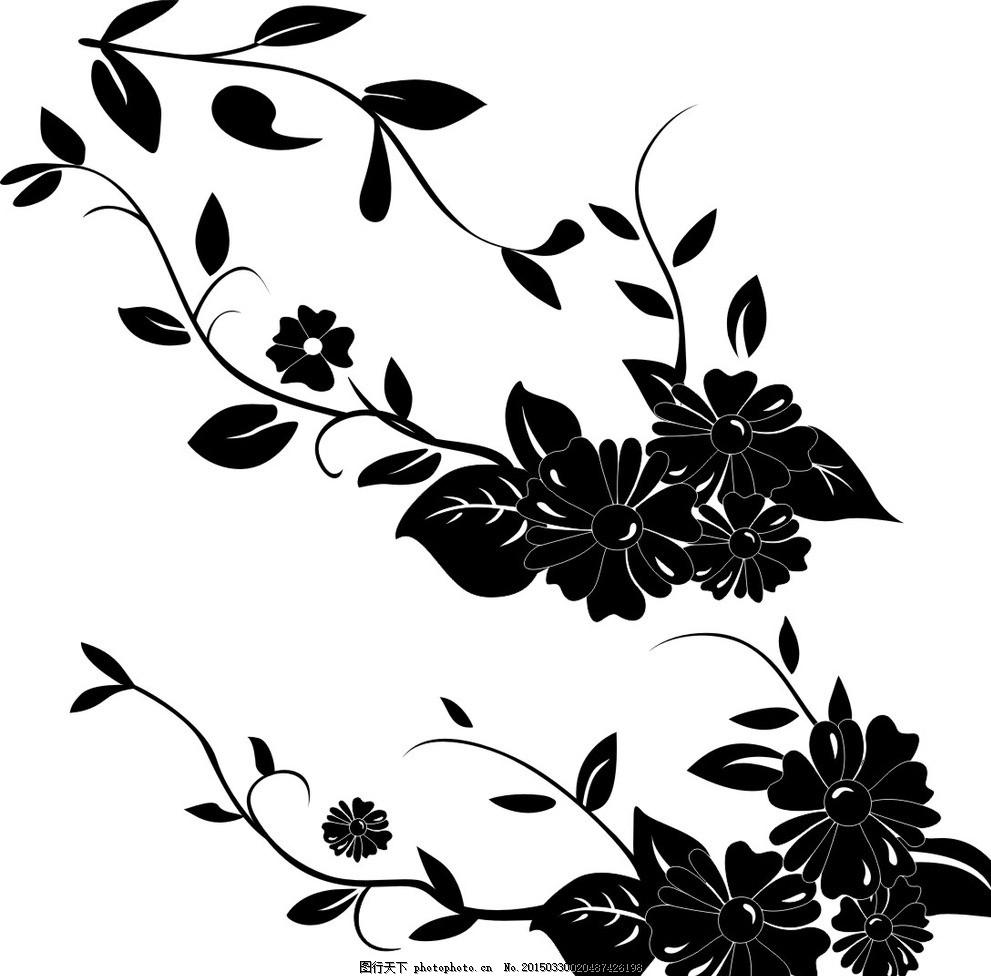 花蔓 花朵 春天 藤蔓 矢量 花边 设计 底纹边框 边框相框 cdr