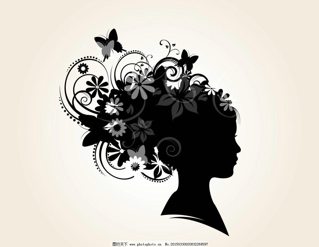 叶子 花纹花边 传统 古典 女性 影 女人与花 底纹边框 矢量花卉 设计