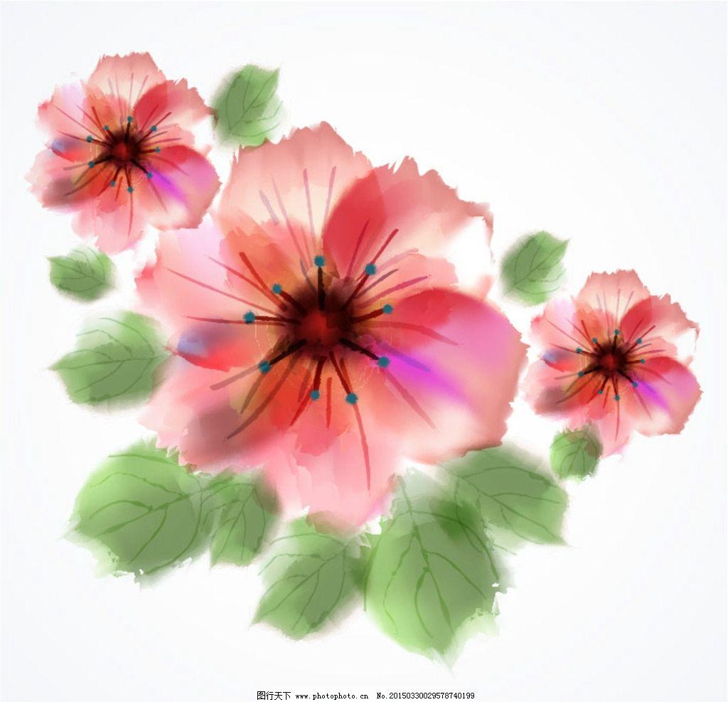 水彩手绘花 水彩 手绘