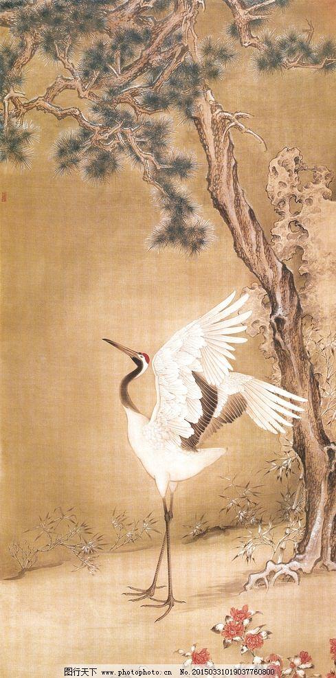 飞鹤风景图图片,树枝 装饰画 壁画 花卉 国画 装饰画