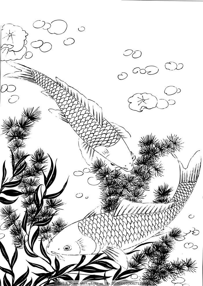 白描花卉 白描 花卉 线描