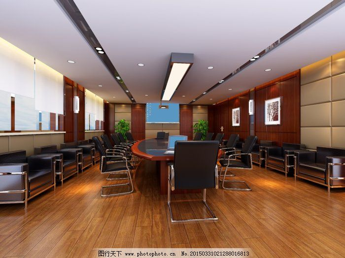 大型会议室设计免费下载 3d模型 会议室 室内设计 室内设计 会议室 3d