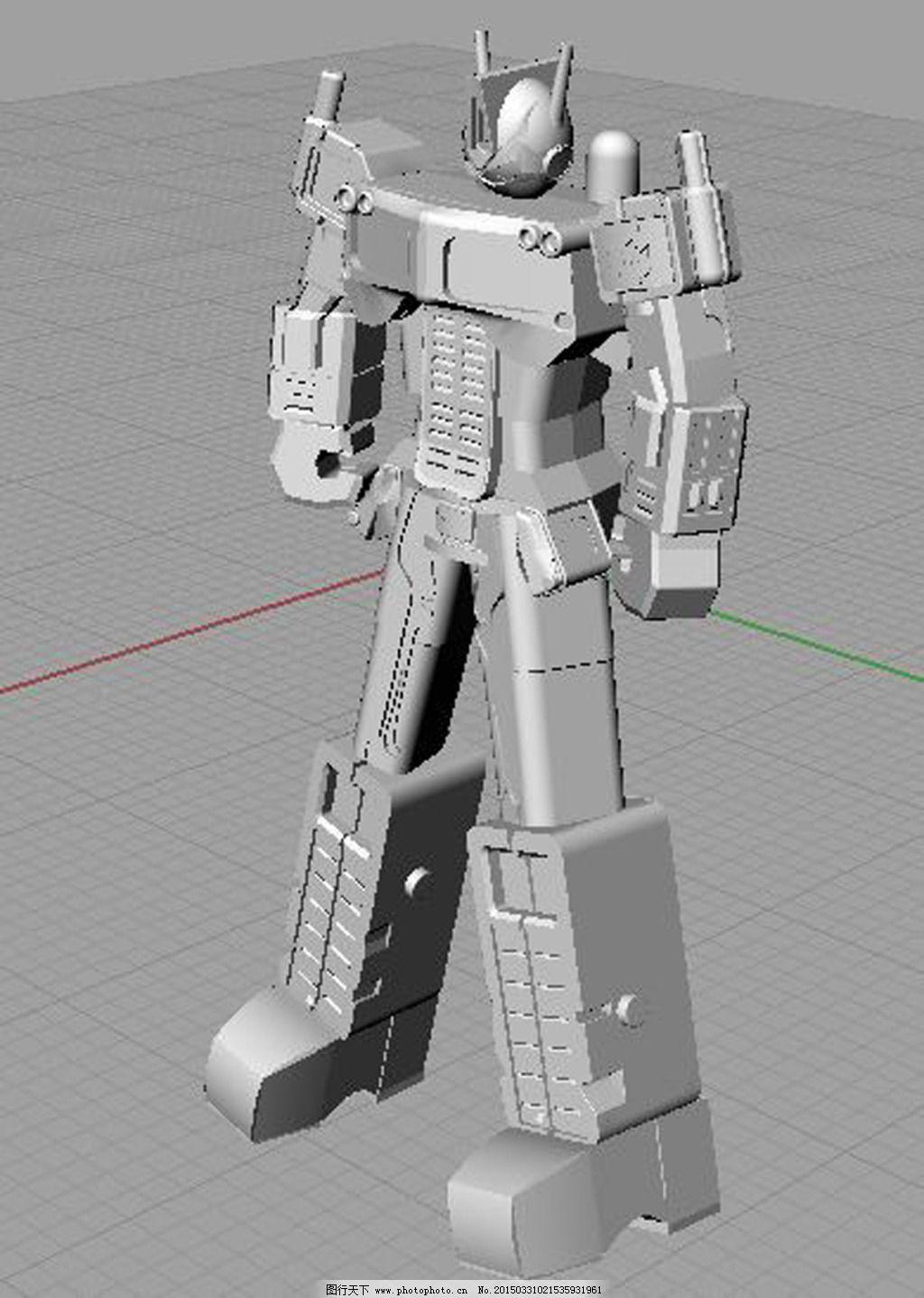 机器人免费下载 变形金刚 犀牛 犀牛 rhino 变形金刚 3d模型素材 其他