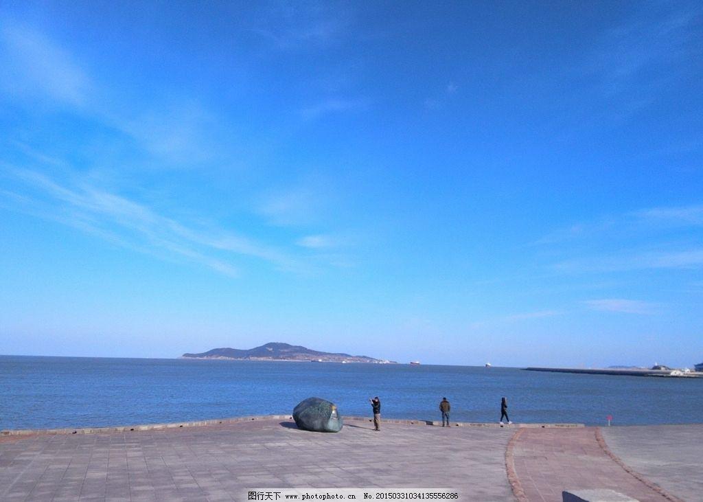 威海 海边 蓝天 蓝天白云 干净清新 旅游照片 摄影 旅游摄影 自然风景